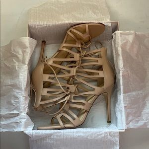 Ivanka Trump light brown high heels